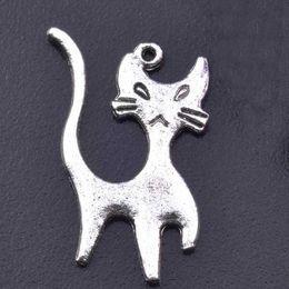 Fashion Jewelry finding accessories DIY component cat charms fit bracelet pet's charms bracelet A3B6F 22.5x14mm 62pcs lot