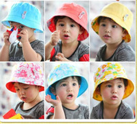 Wholesale 2011 Baby twisted Style Hats boys Double sided Hats Child Bucket hats hat Fisherman hat hat box