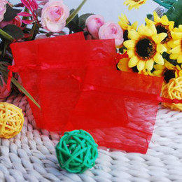 7X9 cm Red Organza Gift Bags Wedding Favor Party Jewelry Pouch 300 Pcs Hot
