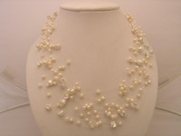 Wholesale Natural white illusion floating pearl necklace quot in length FN927