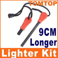 Wholesale Field Survivorship Outdoor Survival Magnesium Flint Stones Fire Starter Lighter Kits Orange H1972