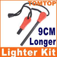 Wholesale Field Survivorship Outdoor Survival Magnesium Flint Stones Fire Starter Lighter Kits Orange H1972