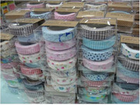 Wholesale fashion colorful Cotton printing tape DIY design printing masking tape candy83