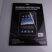 Wholesale DHL free Clear Screen protector film for ipad ipad2 screen protector with reatail package