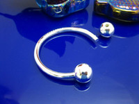 Wholesale New arrival Silver Key chains fit Double beads open key chains