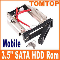 Wholesale 3 quot SATA Gb s HDD Rom Hard Drive Disk Aulminum Mobile Rack C1089