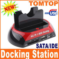 Wholesale All in One quot quot SATA IDE HDD Dual Dock Hard Drive Dock Docking Station e SATA Hub C1091