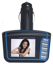 Wholesale 1 quot CSTN Car Mp4 Fm Transmitter Car Mp3 Player USB2 SD MMC Card Reader With Move Lyric Function