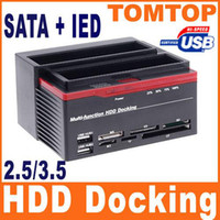 Wholesale All in One quot SATA IDE HDD Docking Dual Dock Hard Drive Dock USB HUB Clone USB HUB C1152