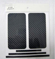 For Apple iPhone Carbon Fiber Vinyl No Carbon Fiber Vinyl Skin Sticker Full Body Mobile cell phone Guard for iPhone 4 4th 4G 4S 5G 5th 5