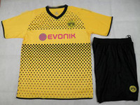 Wholesale New Yellow Dortmund Home Shirt Short Soccer Football Jersey Clothes Uniform Shirts
