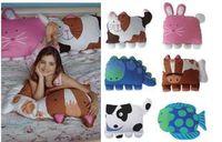 Wholesale doomagic Children fashion pillows toddler pet bag Nursery Bedding pillowcase cartoon pillow sheath