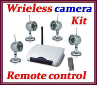 Wholesale DHL G Wireless Monitor DVR Audio with remote control Camera Security System Night vision RW R02