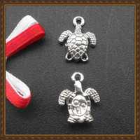 Wholesale DIY jewelry accessories retro silver plated turtle tortoise charms jewelry pendants SPL011 x11mm