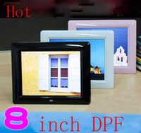 Wholesale 8 quot Super Thin TFT Screen Digital photo frame paly picture MP3 HD