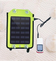 Wholesale 2 W Portable Solar Power USB Battery Charger for Cell Phone GPS MP3 V mAh Solar panel With Bag