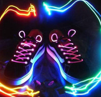 Wholesale 200pcs pairs Flashing lace Light Lace Flash Shoelaces Luminous Shoelace LED Shoelace
