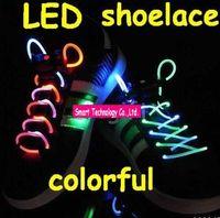 Wholesale 50pcs pairs Flashing lace Light Lace Flash Shoelaces Luminous Shoelace LED Shoelace