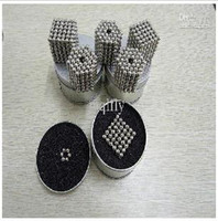 Wholesale new Drop Shipping Buckyball Magnetic Balls spare ball Silver Gift Box Magnet Toy Toys set