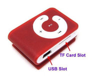 Wholesale 10pcs new Clip Mp3 player with card slot mini mp3 player gift mp3 player colors From the factory