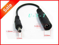 Wholesale 5 mm mm Female to mm mm male DC adapter end power conversion cable