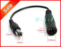 Wholesale 5 mm x mm Male Plug to mm x mm female socket DC Power Adapter cable Conversion Plug Express