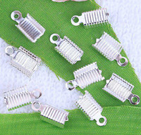 Wholesale 1000PCS Copper Silver Plated End Caps Crimp Beads x MM Jewelry Findings amp Accessories