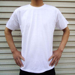 Wholesale LOWEST MEN S T SHIRT SHORT SLEEVE ROUND NECK COTTON WHITE BLANK
