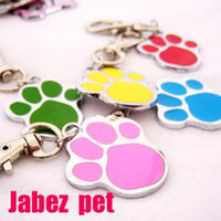 Wholesale foot shape pet tag dog tag collar card