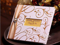 Wholesale wedding card Wedding invitation white color card with gold embossed printing