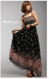Wholesale On Promotion Lowest Price Bohemia Chiffon Maxi Dress for Summer chiffon long skirt