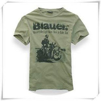 Wholesale BLAUER of the original single washed old cotton short sleeve T shirt printing