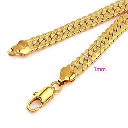 Cool Men's 18k Real gold filled necklace