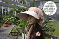 Wholesale 2pcs Elegant Ladies Wide Brim Hats Beach JJ01 Hat Visors Foldable Cap Summer Hat