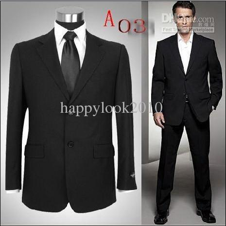 New Luxury Black Men's Wedding Dress Prom Clothing Groom Tuxedosclothes+pants Online with $107.86/Piece on Mygirlsdress's Store | DHgate.com
