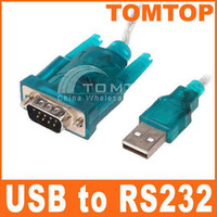 Wholesale Brand New USB to RS232 Serial serial DBmale Pin Cable Adapter For PC PDA GPS C265GR