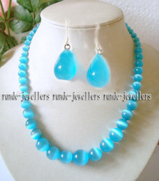 Wholesale Beautiful MM Mexican Blue Opal Necklace Earring