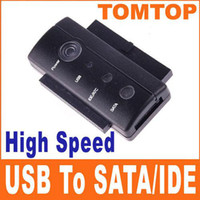 "c807 SATA Desktop Brand New USB 2.0 To SATA IDE 2.5"" 3.5"" High Speed Converter With Power Supply C807 5pcs lot"