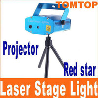 Wholesale Mini Stage Lighting Flash Disco DJ Party Club Red Moving Party Laser Projector AC V H4354