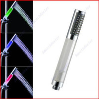 Wholesale Romantic Colors LED Light Water Bathroom Shower Head