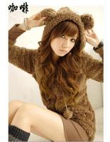 Wholesale 2011 Women Cute Bear Ear Hoodie Fleece Outerwear Top sell fashion cute