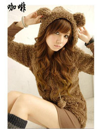 Wholesale 2011 Women Cute Bear Ear Hoodie Fleece Outerwear Top sell fashion cute