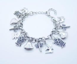 Fantastic jewelry 925 Silver Links chain Magic Bracelets fit Multi cute pendants Mix styles