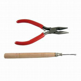 Wholesale A Straight Plier and A Needle latch hook for Hair Extensions Necessary Tools Hotsale