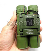 al por mayor army binoculars-10X25 Ejército Militar Telescopio Al Aire Libre Binoculares