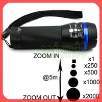 Wholesale 4 COLOR Mode Adjustable Focus CREE Clip Zoom Torch LED Flashlight