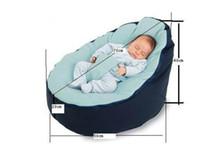 Wholesale Baby Pouf Bean Bag Without Filling Blue Color