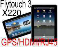 Wholesale 5pcs X220 inch Flytouch Tablet PC GPS Flash Google Android HDMI Camera Superpad epad