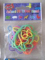 Wholesale Animal Rubber Band zoo amp pet rubberband elastica hair bungee pack Learning Toys Gift kids p