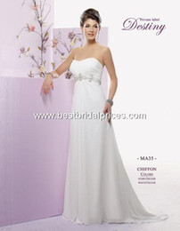 Wholesale New style Custom Made Private Label by G Informal Wedding Dresses Style MA35 elegant strapless